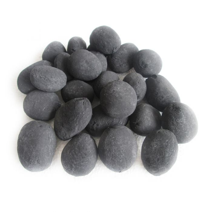 Decorative Ceramic Pebbles, 25 Pcs Black