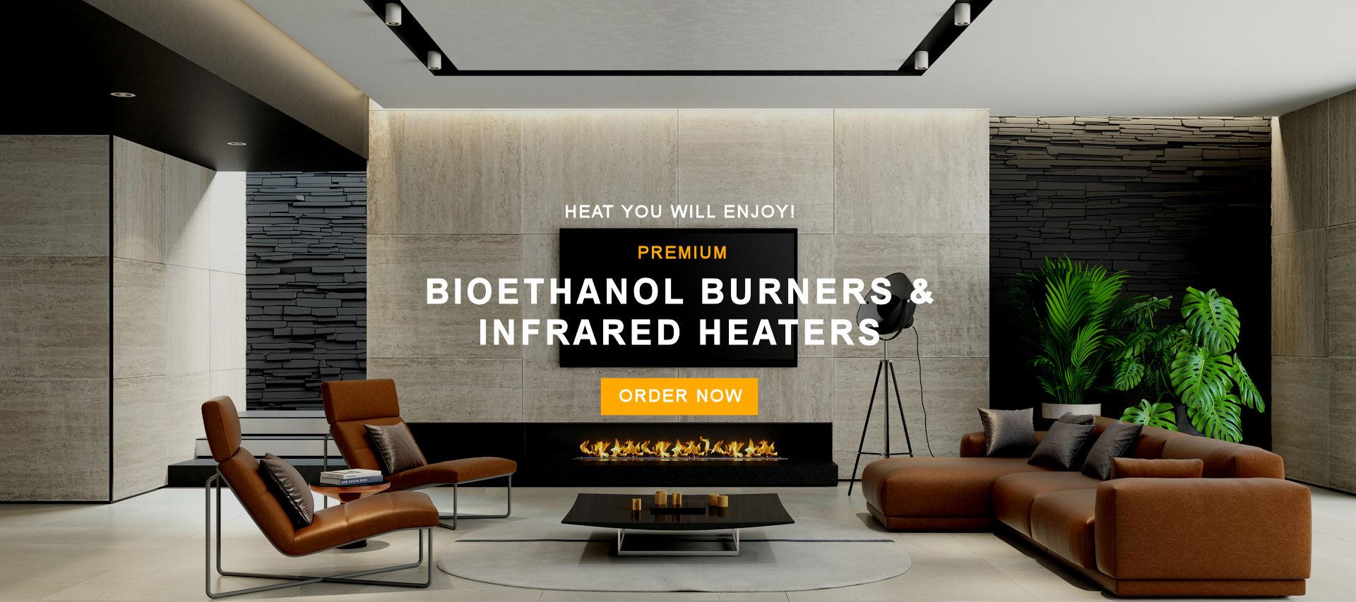 Premium bioethanol burners & infrared heaters